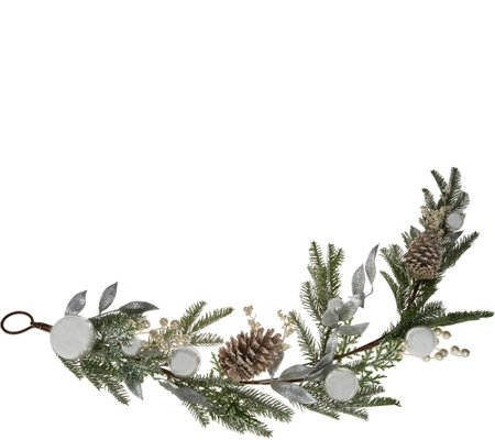 4' Ornament, Berry, and Pinecone Garland by Valerie