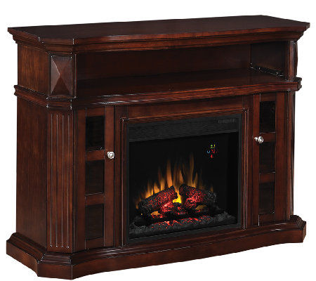 Twin Star Bellemeade TV and Media Mantel Fireplace with Remot