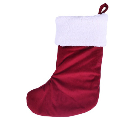 Berkshire Blanket Classic Red and White Stocking