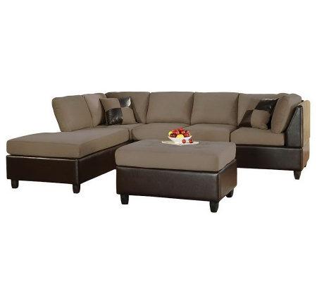Lisbon Sectional Sofa Ottoman By Acme Furniture