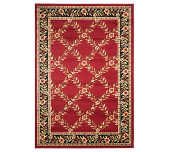 Lyndhurst Open Floral Power Loomed 7' x 7' Round Rug - H356792