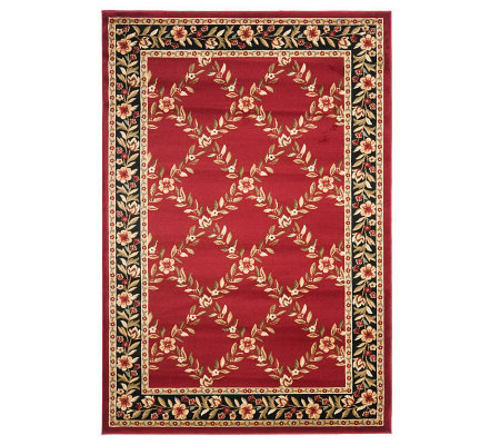 Lyndhurst Open Floral Power Loomed 7' x 7' Round Rug
