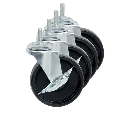 Honey-Can-Do Large Solid Composite Urban Shelving Wheels