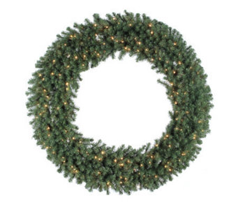 "60"" Douglas Fir Prelit Wreath w/Clear Lights byVickerman - H156193"