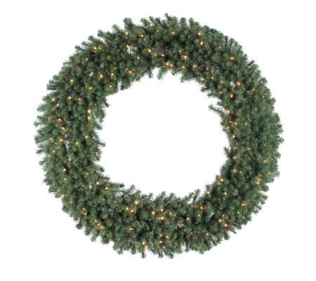 "60"" Douglas Fir Prelit Wreath w/Clear Lights byVickerman"