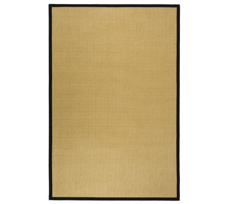 Serenity Solid Natural Fiber Sisal 6' x9' Rug with Border