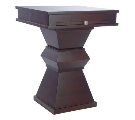 Home Reflections Pedestal Table with Slide Out Tray