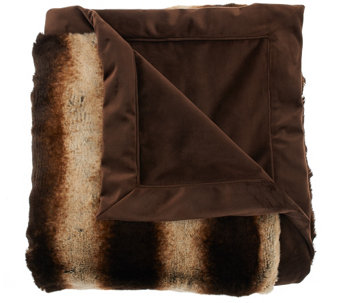 "Dennis Basso 50""x60"" Platinum Posh Faux Fur Throw - H206893"