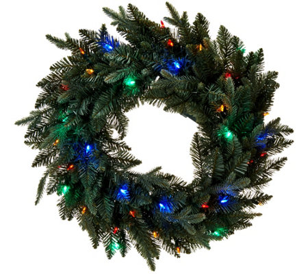 "Bethlehem Lights Blue Spruce 24"" Lit Wreath"