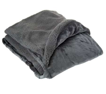 Cuddl Duds Velvet Plush Foot Pocket Throw