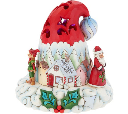 Jim Shore Heartwood Creek Illuminated Santa's Hat Figurine