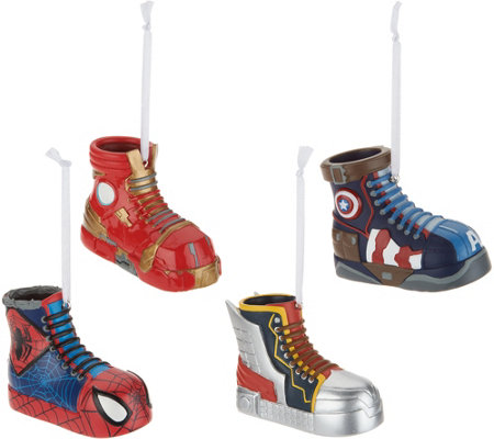 Hallmark Set of 4 Superhero Sneaker Ornaments