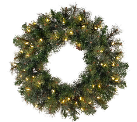 "42"" Prelit Modesto Mixed Pine Wreath by Vickerman"
