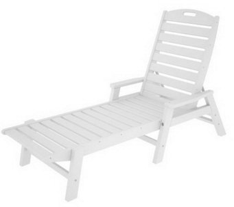 POLYWOOD Nautical Chaise Lounge with Arms - H349893