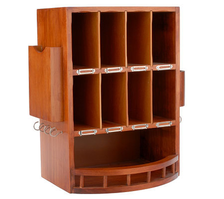 Solid Wood Mail Organizer W 8 Mail Slots Amp Customizable