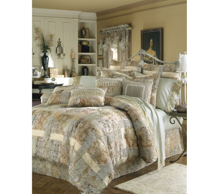 multi sham images queen floral croscill sets set color comforter on piece best bedskirt daphne pinterest