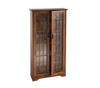 Lyndon Oak Finish Double Door Media Cabinet - H155594