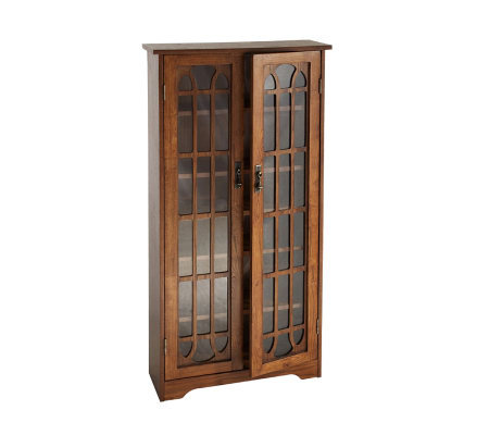 Lyndon Oak Finish Double Door Media Cabinet
