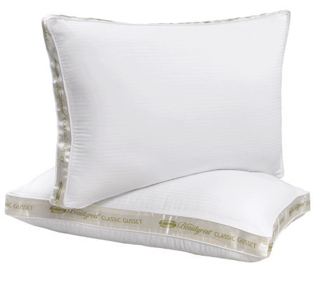 "Beautyrest 2"" Gusset Standard Medium Support Pillows - Set/2"