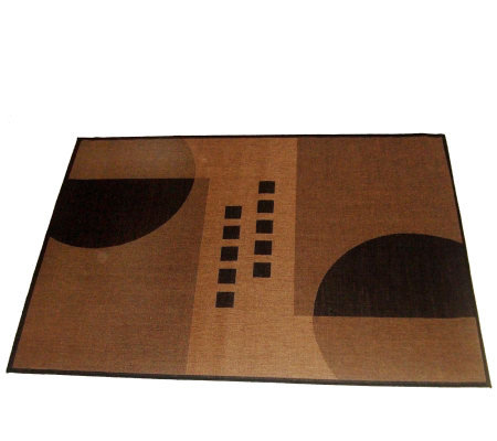 Geometrix Outdoor 100% Polypropylene 5' x 8' Woven Rug