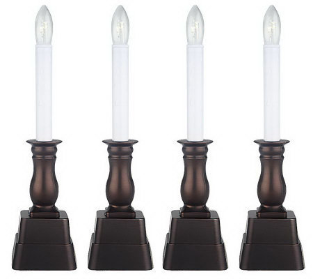 set of 4 window candles with timer