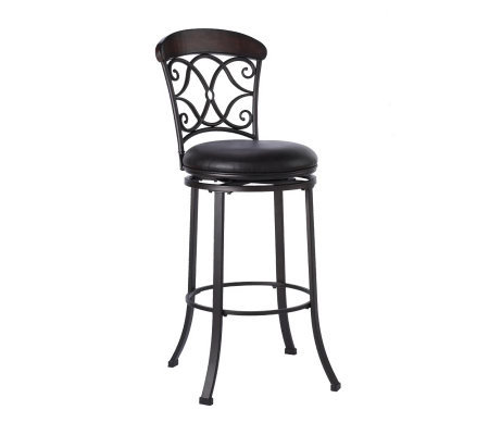 Hillsdale Furniture Trevelian Swivel Bar Stool Qvc Com