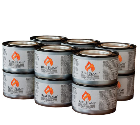 12 Cans of Junior Gel Fuel by Real Flame - 7-oz