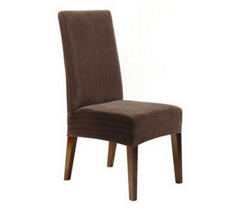 Sure Fit Stretch Pinstripe Shorty Dining Chai rSlipcover - H180594