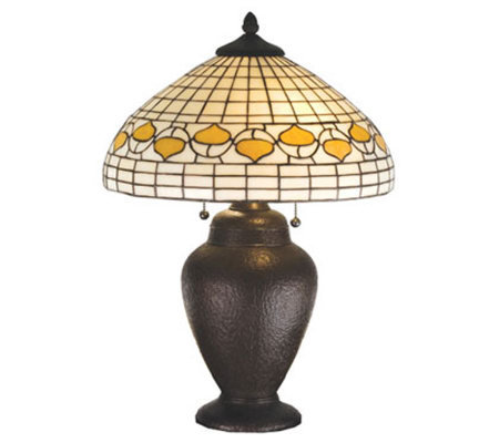 "Tiffany Style 23-1/2""H Acorn Dome Table Lamp"