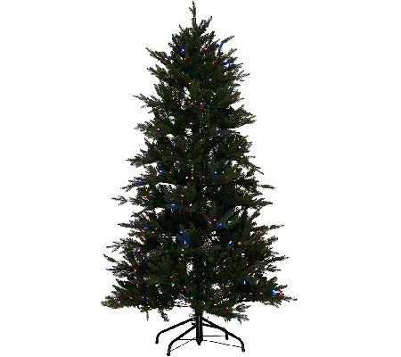 Santa's Best 7.5' Grand Fraser Fir Tree w/ EZ Power & 8 Light ...