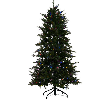 Santa's Best 7.5' Grand Fraser Fir Tree w/ EZ Power & 8 Light Functions