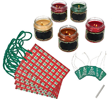 Set of 5 Holiday Home Candle Collection by Valerie