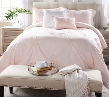Casa Zeta-Jones Cotton Embroidered Full Comforter Set