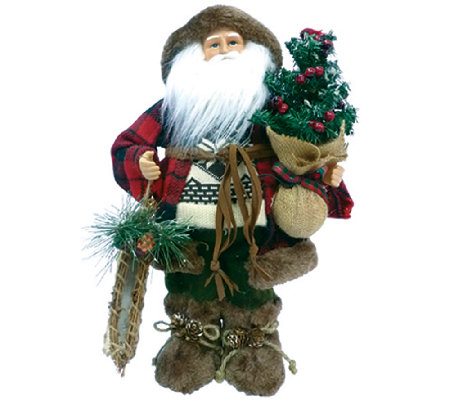 "16"" Woodsman Santa by Santa's Workshop"