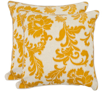 "Safavieh Set of 2 18"" x 18"" Aubrey Pillows - H285394"
