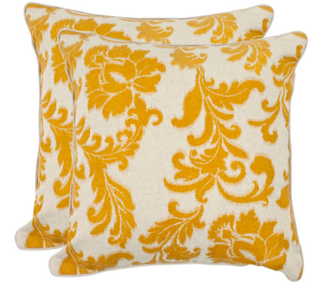 "Safavieh Set of 2 18"" x 18"" Aubrey Pillows"
