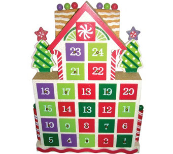 Gingerbread Advent Calendar by Santa's Workshop - H288994