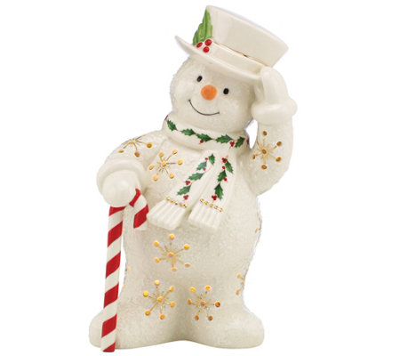 Lenox Happy Holly Days Snowman Lit Figurine