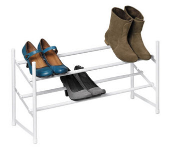 Honey-Can-Do 2-Tier Expandable Stackable Shoe Rack - H356994