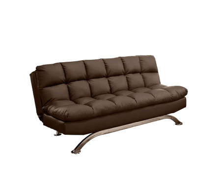 Aristo II Faux-Leather Futon Sofa