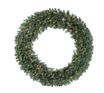 72 Douglas Fir Prelit Wreath w/Clear Lights byVickerman - H156195