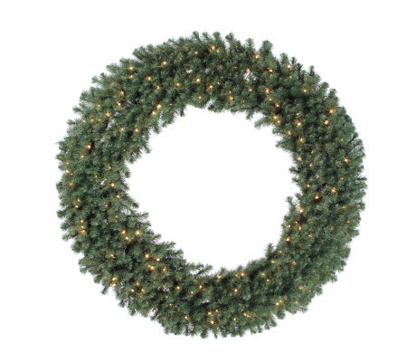 72 Douglas Fir Prelit Wreath w/Clear Lights byVickerman