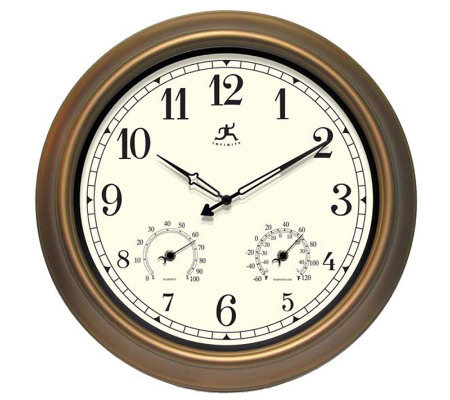 The Craftsman Metal Indoor/Outdoor Wall Clock by Infinity