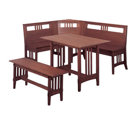 Mission Style Breakfast Nook Dining Set