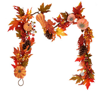 Pumpkin and Berries Garland by Valerie - H203595