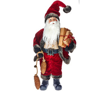 "Dennis Basso Aspen Collection 18"" Santa Claus - H205795"