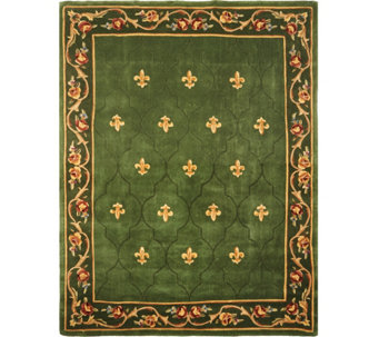 "Royal Palace Special Edition 8'x10'6"" Fleur de Lis Wool Rug - H207295"