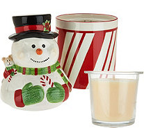 HomeWorx by Harry Slatkin Festive Canister with Drop-In Candle - H211395