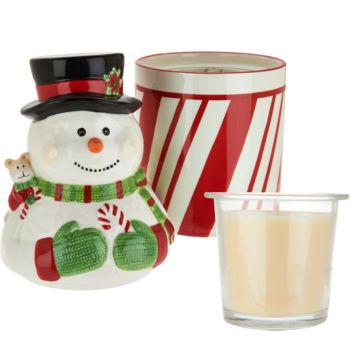 HomeWorx by Harry Slatkin Festive Canister with Drop-In Candle