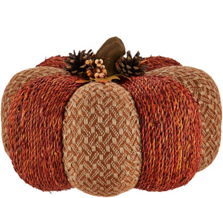 Oversized Woven Pumpkin or Gourd by Valerie